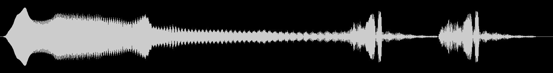 ヒュウーン、ウンウン(長い落下後余韻)の未再生の波形