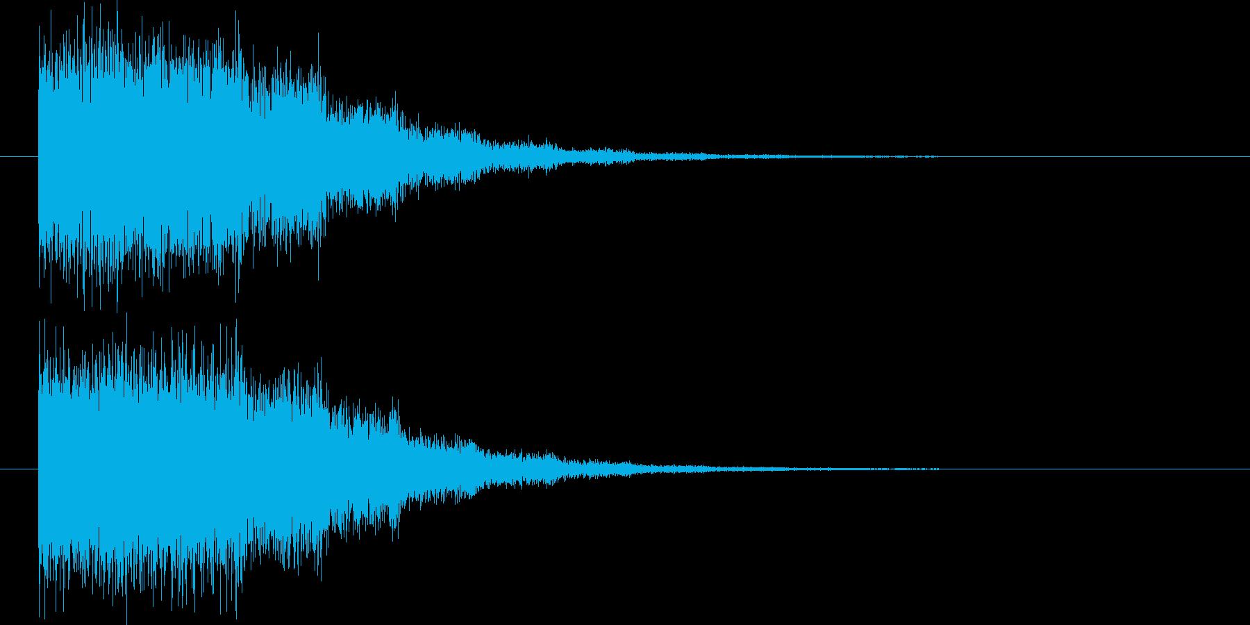 ダメージ魔法効果の再生済みの波形