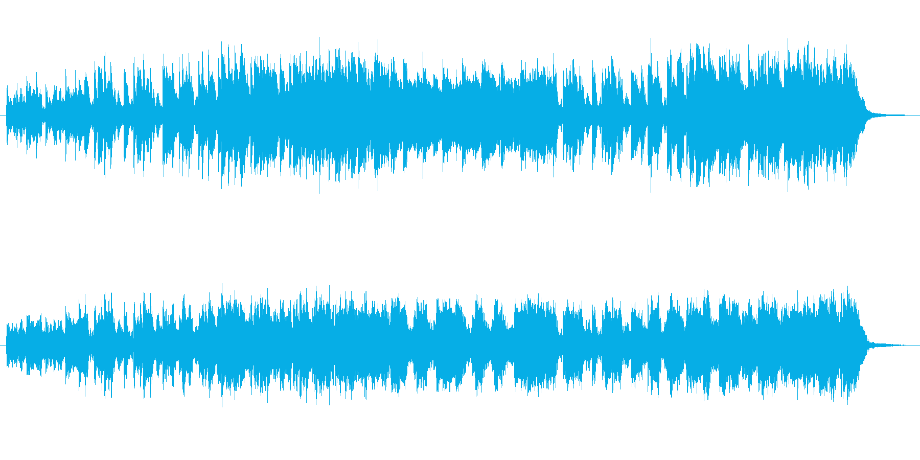不気味な雰囲気のインスト曲の再生済みの波形