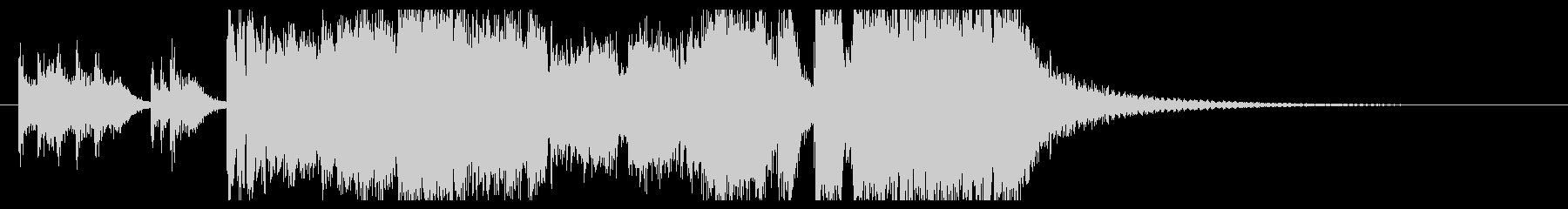 重厚で壮大なファンファーレ・ジングルの未再生の波形