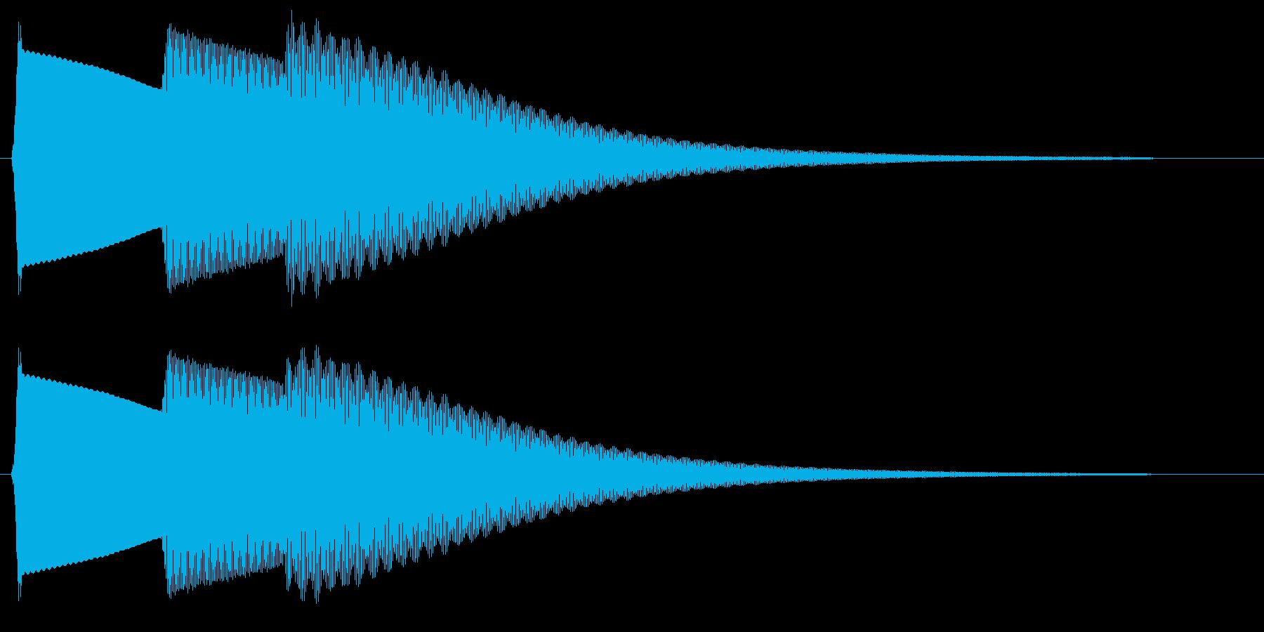 ピロリン(魔法にかかる音)の再生済みの波形