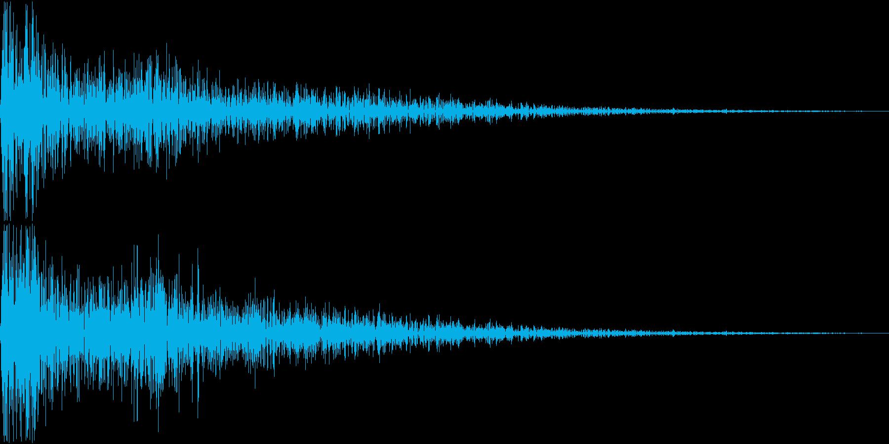 DTM Snare 9 オリジナル音源の再生済みの波形