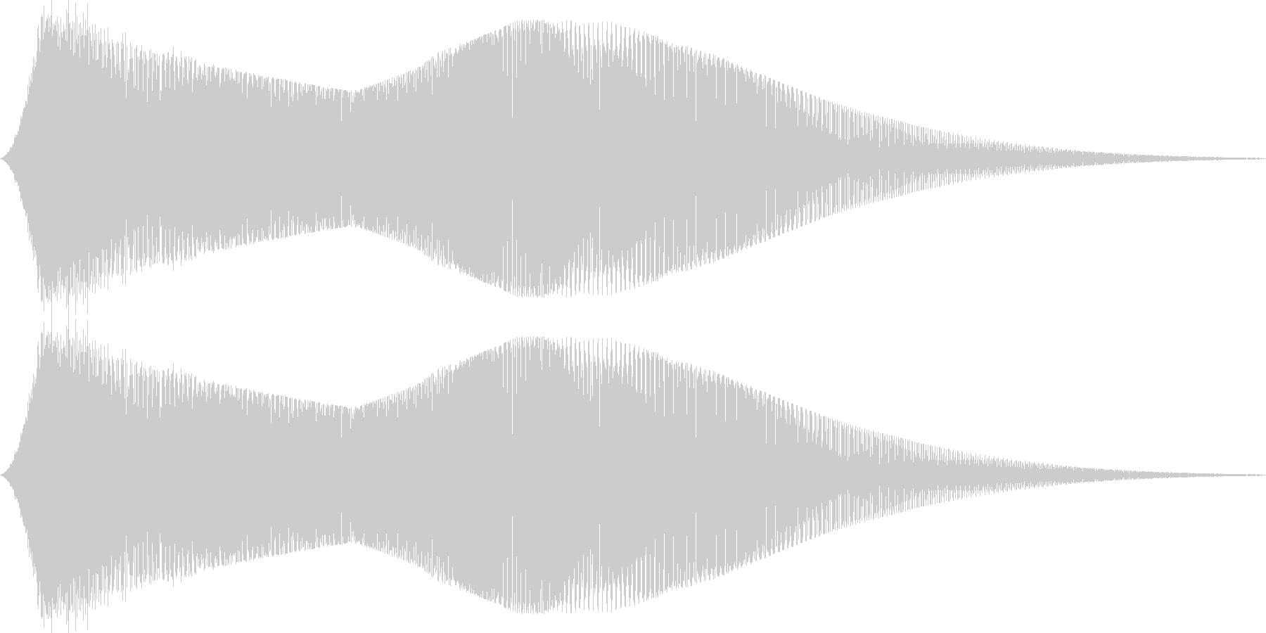 FM音源で作ったサウンドロゴ(ギュワー)の未再生の波形