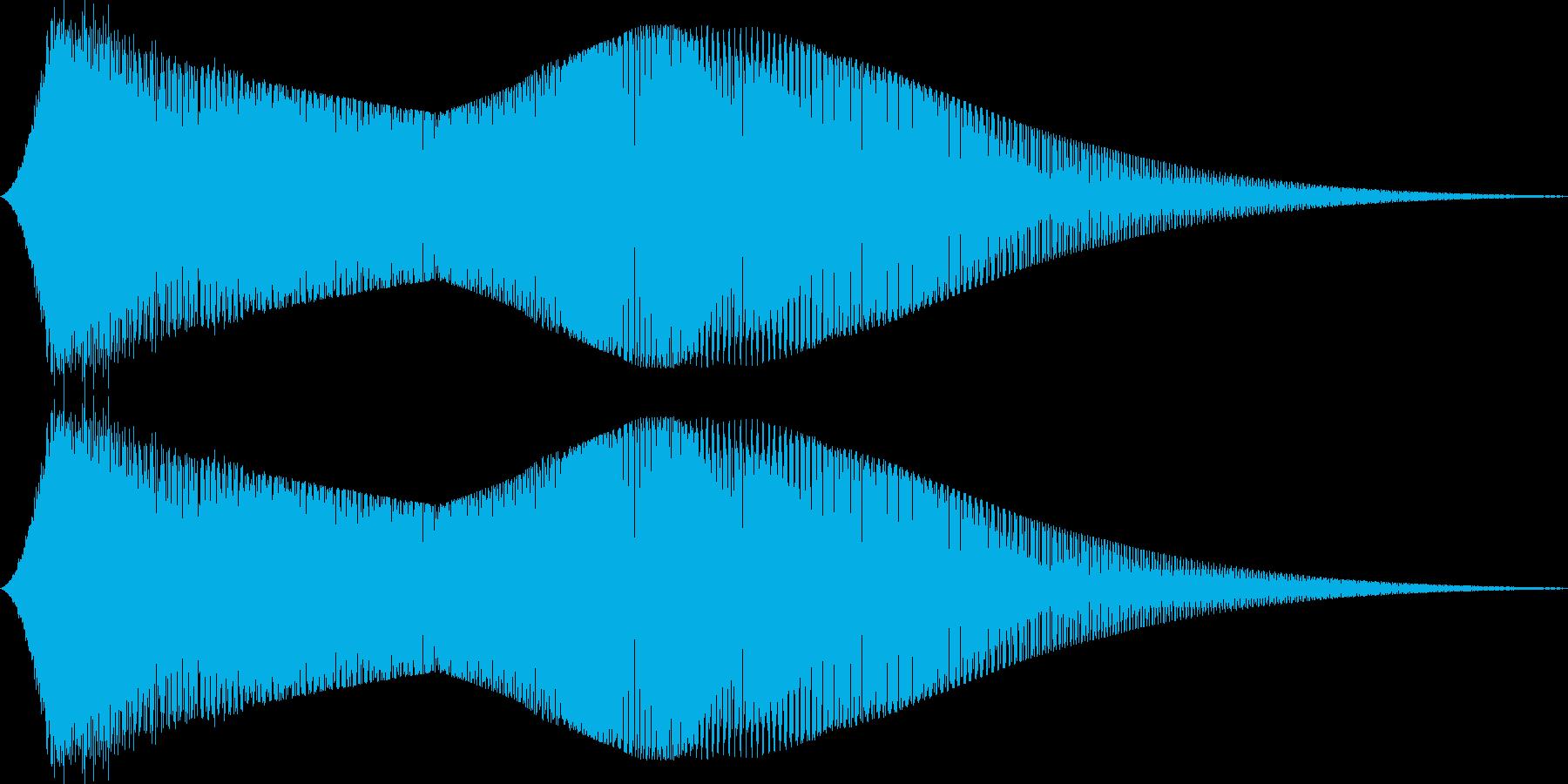 FM音源で作ったサウンドロゴ(ギュワー)の再生済みの波形