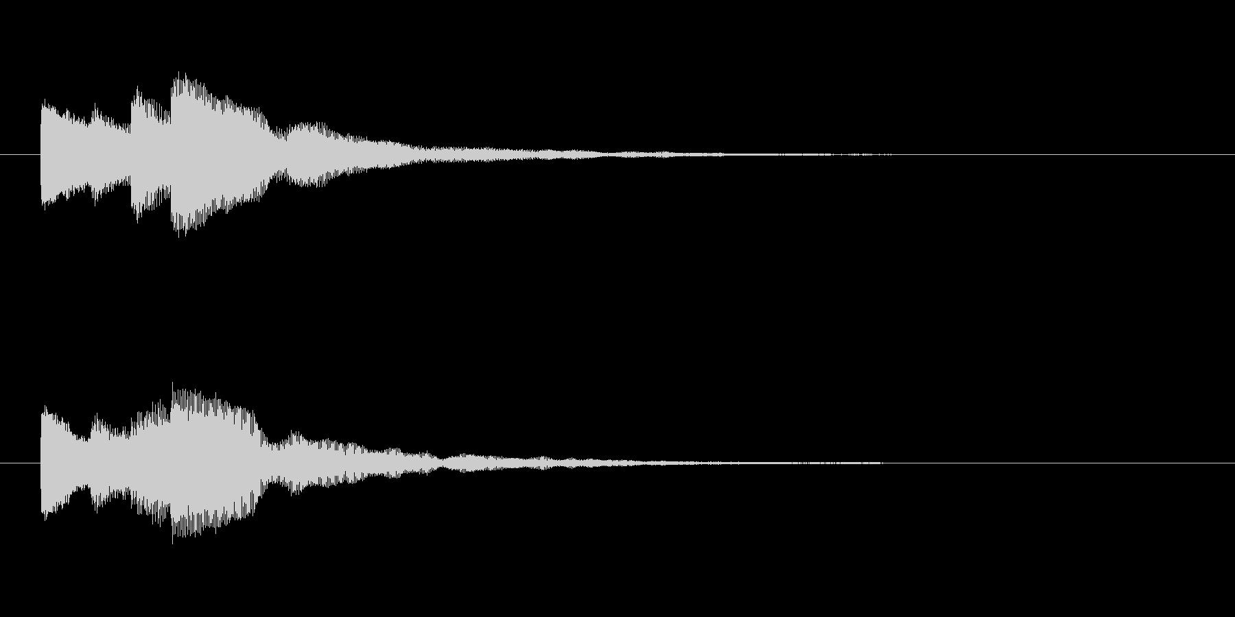 【チャイム 注意03-up2】の未再生の波形