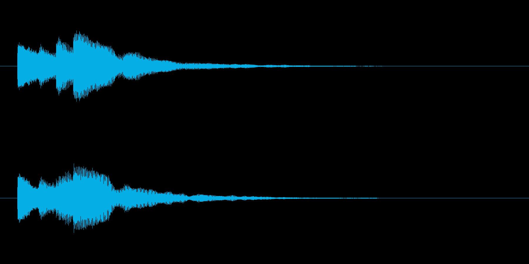【チャイム 注意03-up2】の再生済みの波形