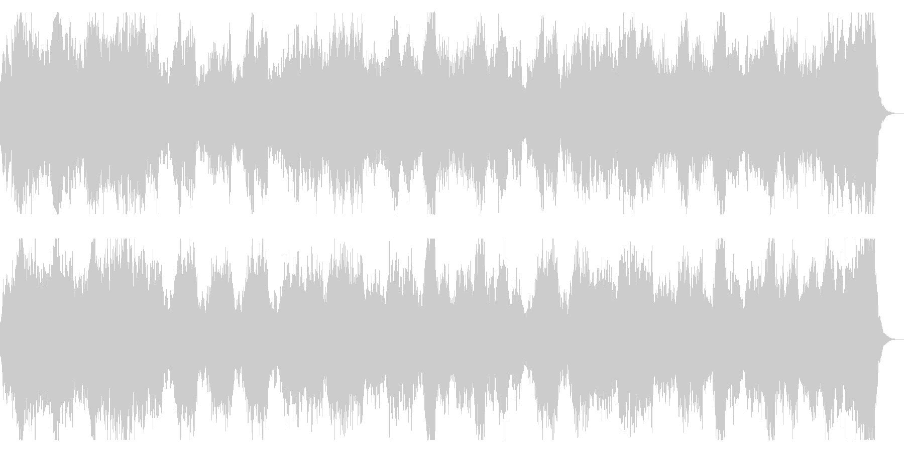 勇壮でダークなオーケストラ ホラー、SFの未再生の波形
