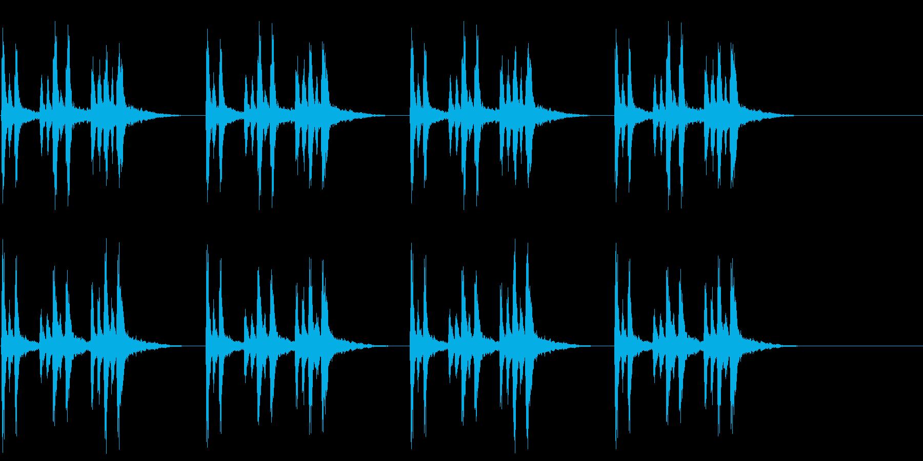 兵隊出動のトランペットファンファーレの再生済みの波形