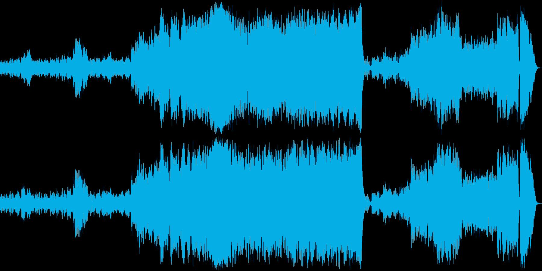 ホルストの「火星」ショートver.の再生済みの波形