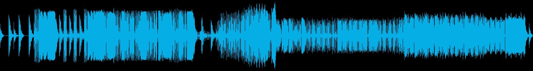 2部構成の再生済みの波形