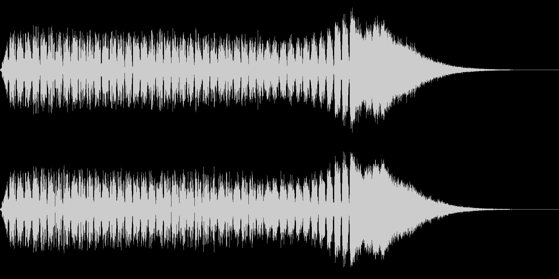 低音から高音へと変化するノイズサウンド…の未再生の波形