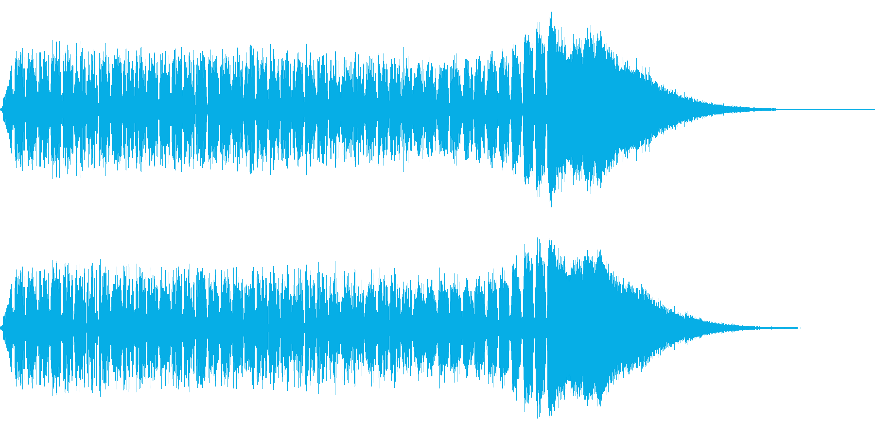 低音から高音へと変化するノイズサウンド…の再生済みの波形