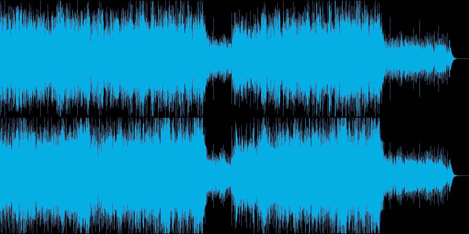 ワルツ風のBGMの再生済みの波形