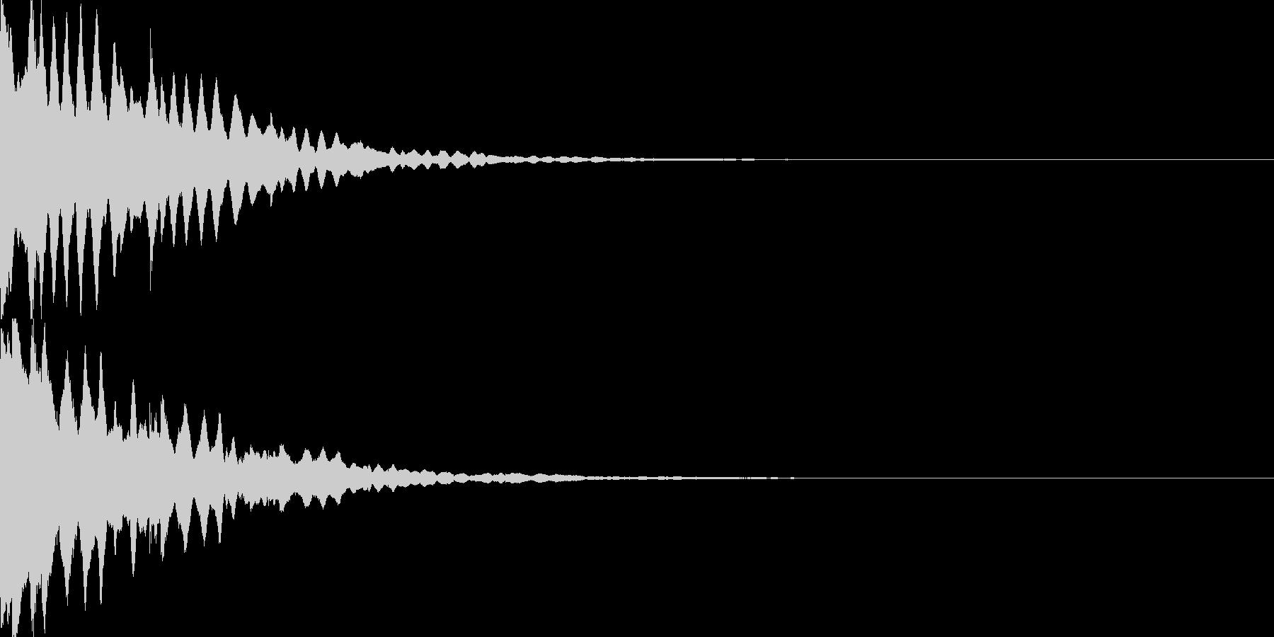 アイテム獲得音03の未再生の波形