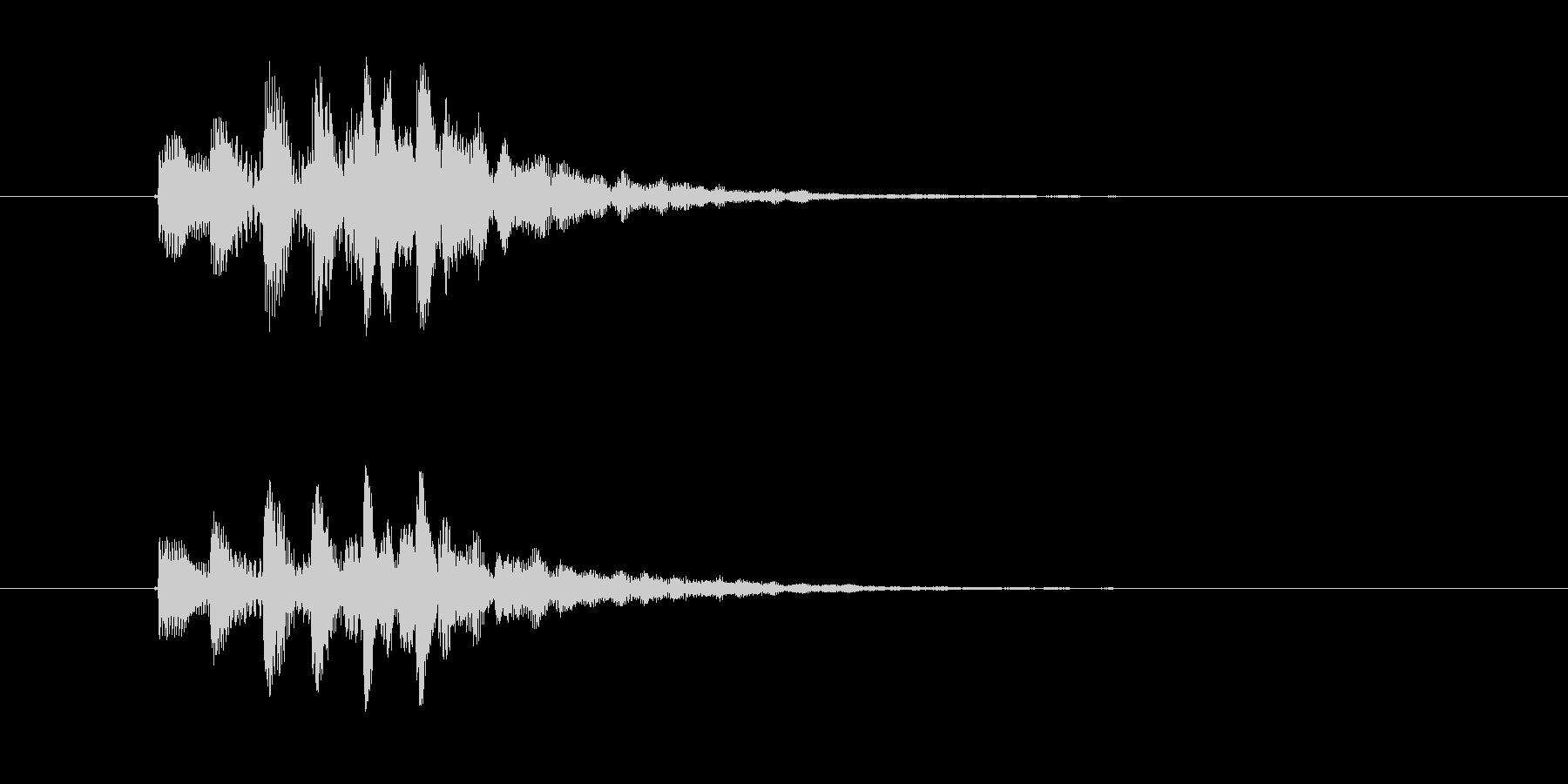 ポワンポワンポワン(起動、終了音)の未再生の波形