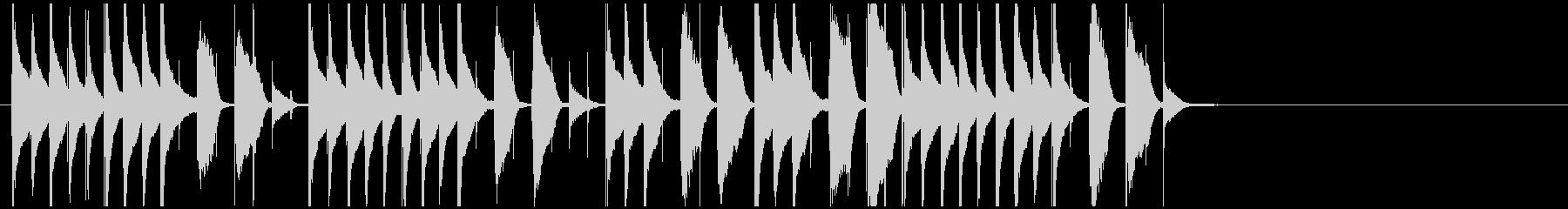 ほのぼのかわいいジングル 日常系コミカルの未再生の波形