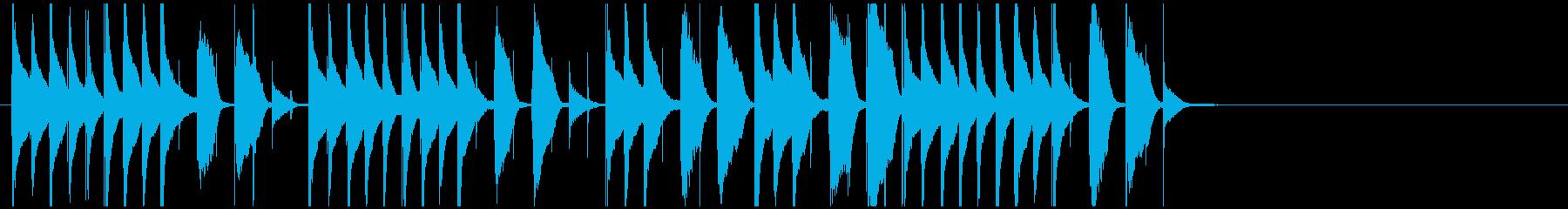 ほのぼのかわいいジングル 日常系コミカルの再生済みの波形