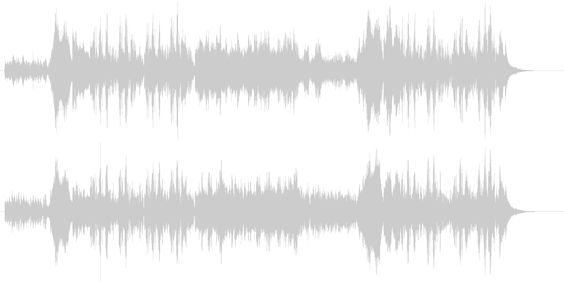 幻想的なピアノソロの未再生の波形