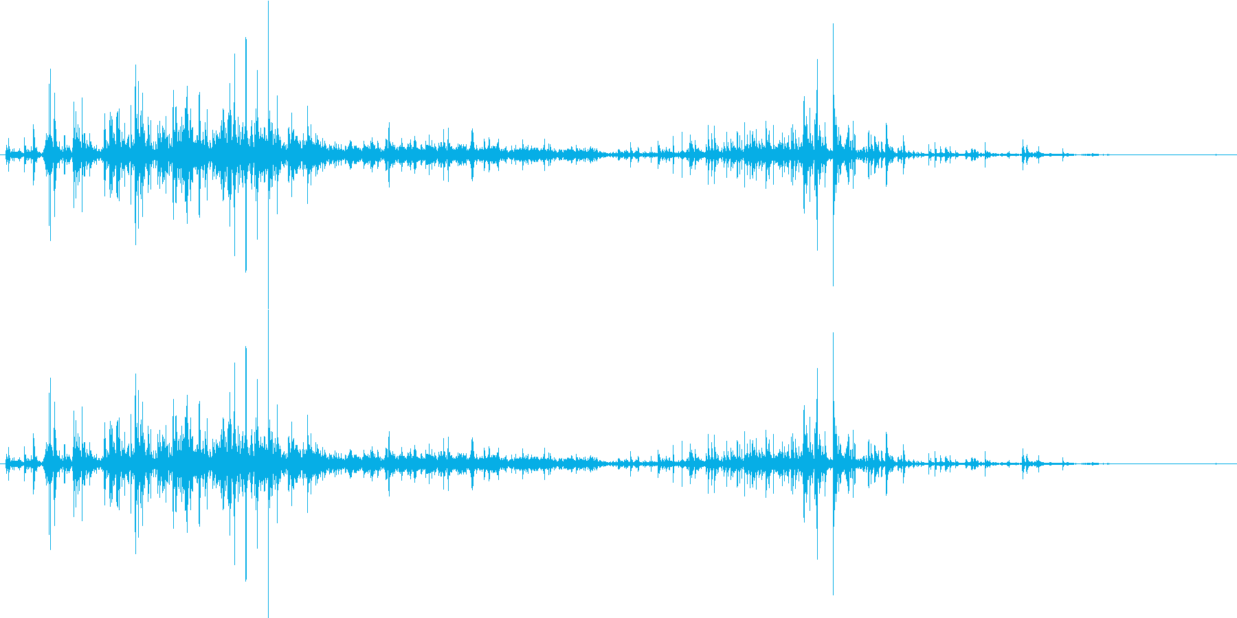 【生音】ドボドボドボドボ。鍋に水入れる音の再生済みの波形