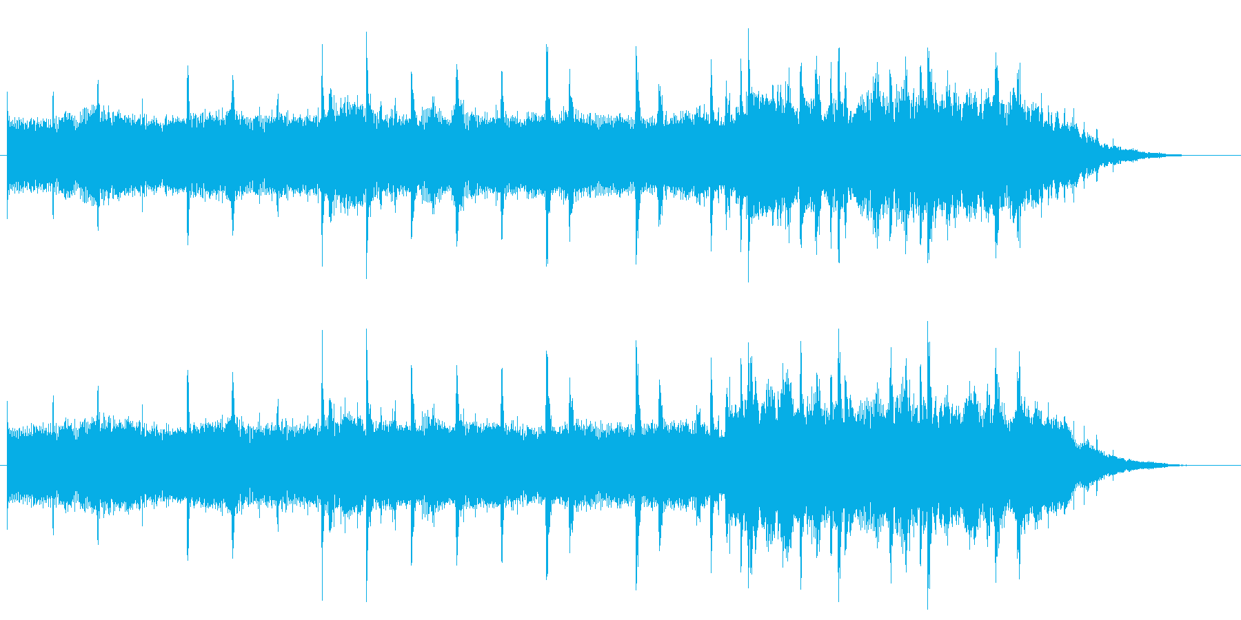 浮遊感のあるアンビエント/エレクトロニカの再生済みの波形
