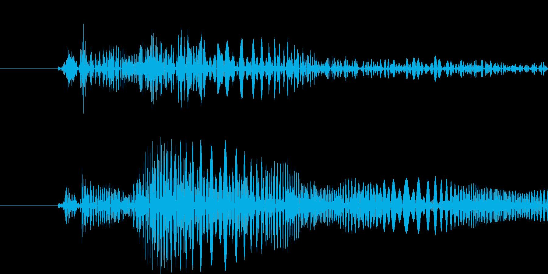ピュン(ビーム・光線)の再生済みの波形
