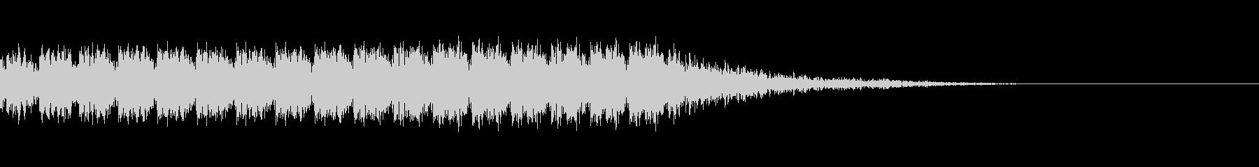 マシンガンの発砲音の未再生の波形