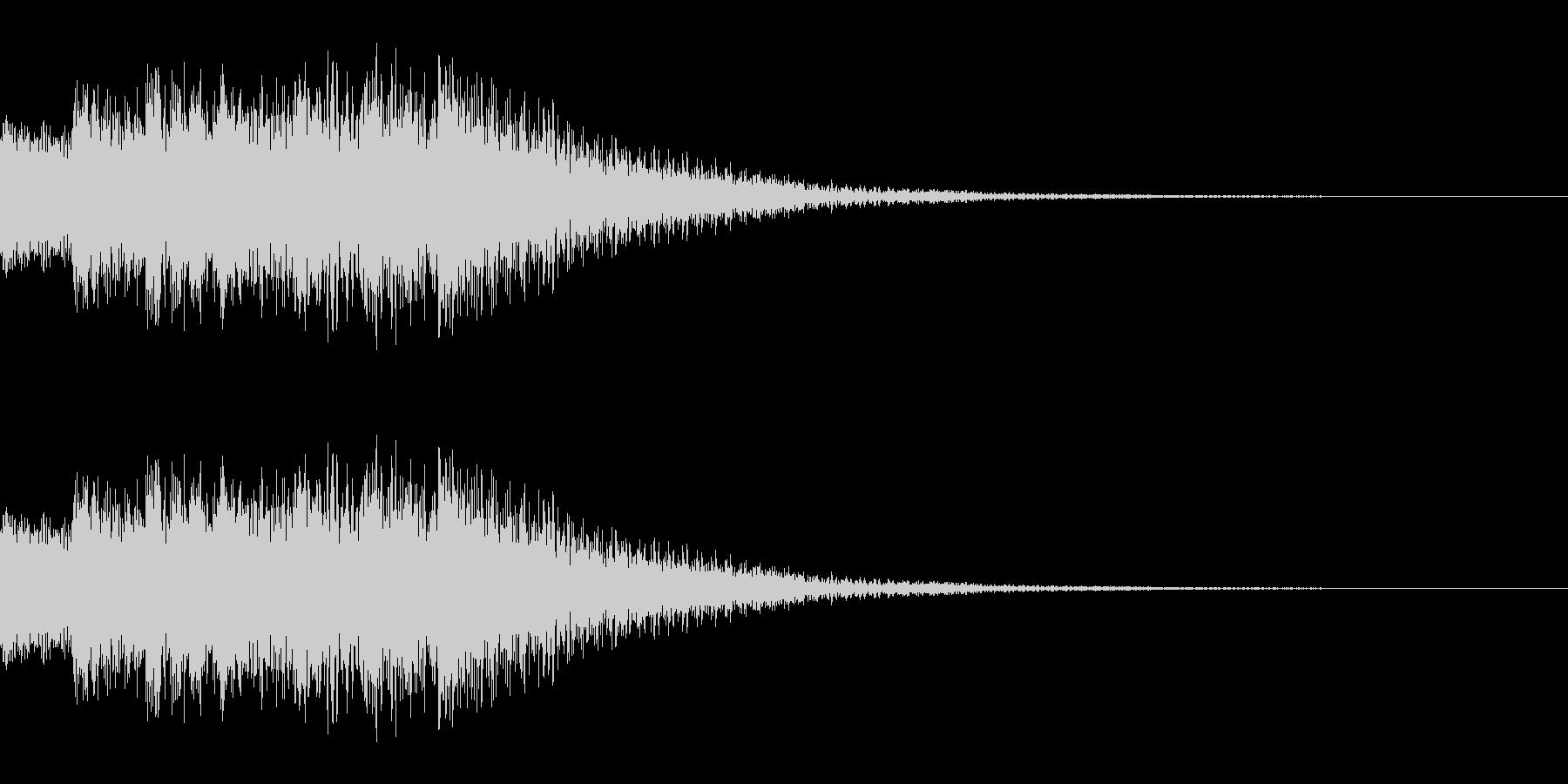 キラリンという通知音等につかえる音です。の未再生の波形
