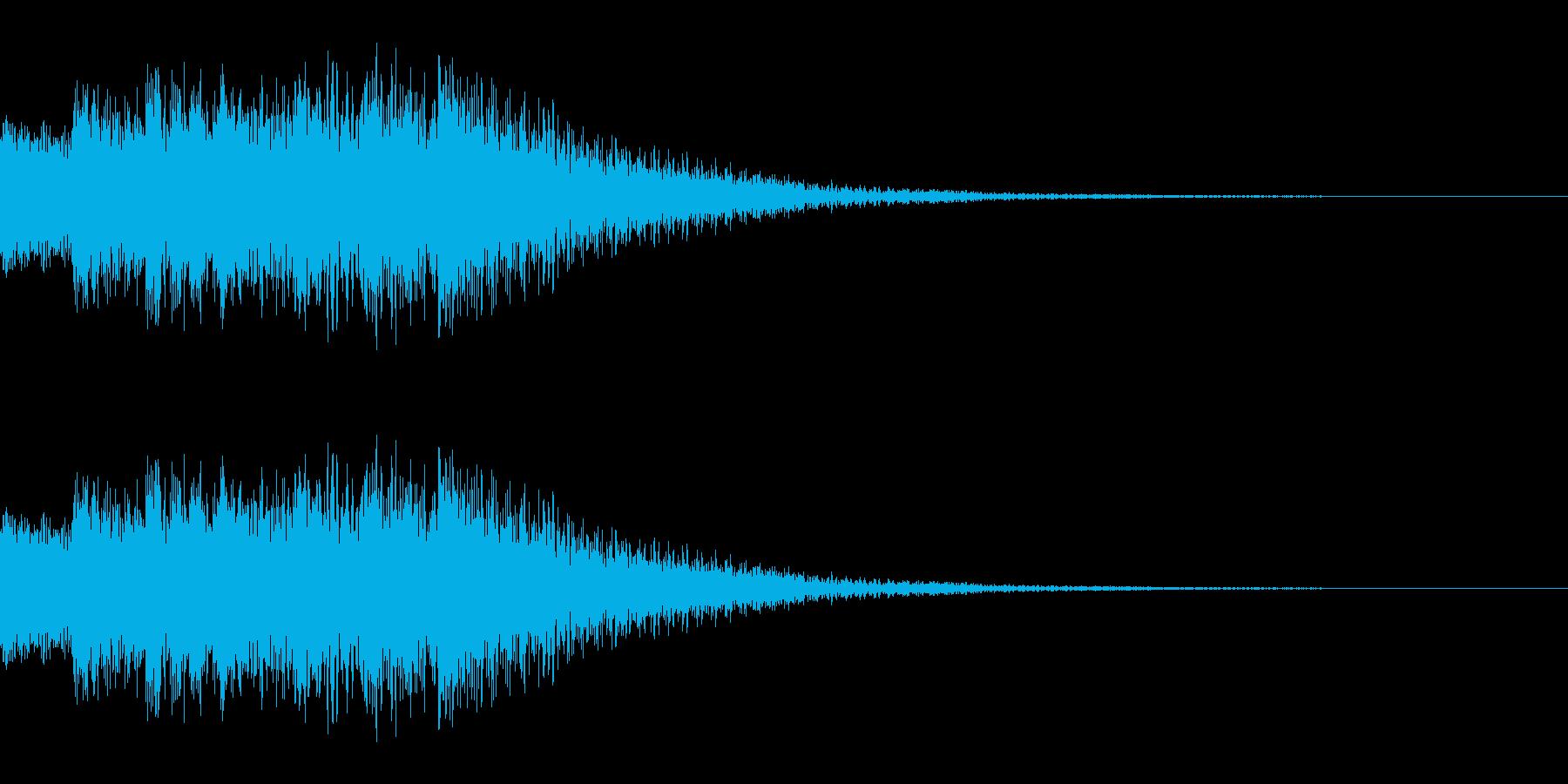 キラリンという通知音等につかえる音です。の再生済みの波形
