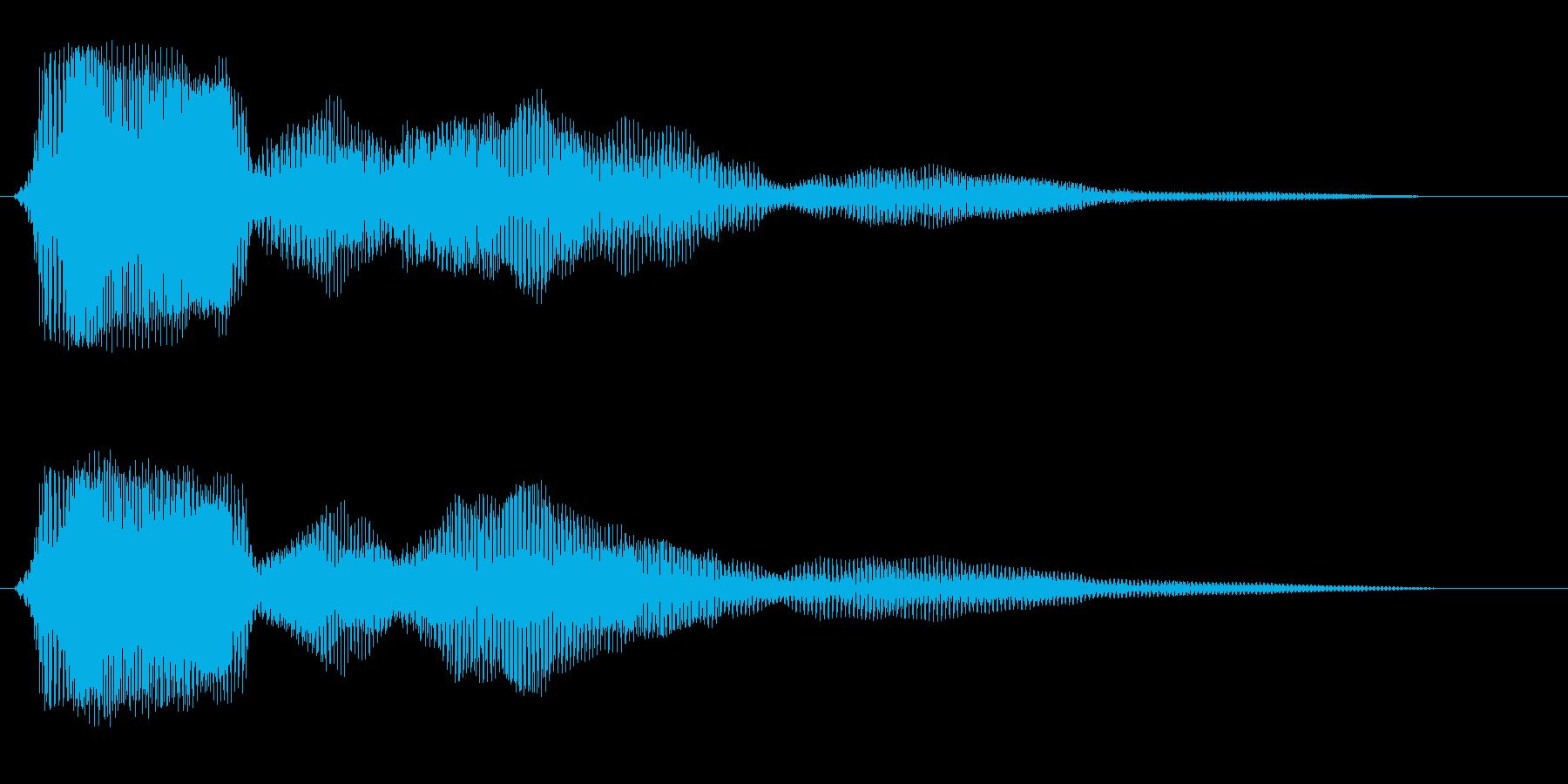 プワァワワァン(バネ系の効果音)の再生済みの波形