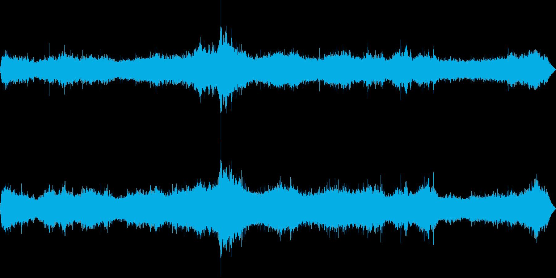 日本海で録った波の音ですの再生済みの波形