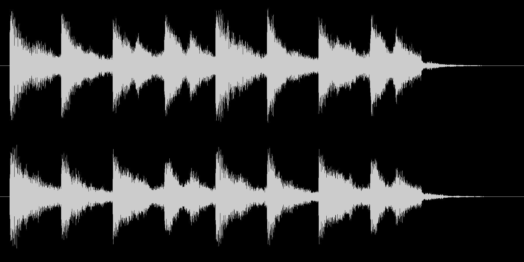 切ない雰囲気のドラマチックなピアノコードの未再生の波形