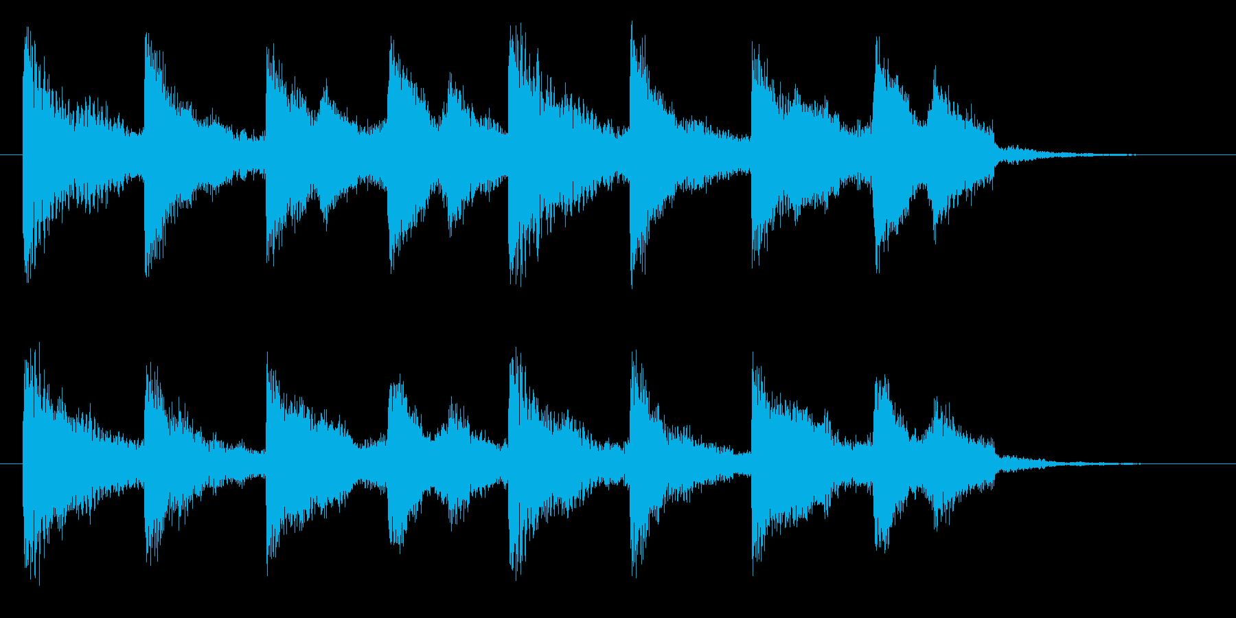 切ない雰囲気のドラマチックなピアノコードの再生済みの波形