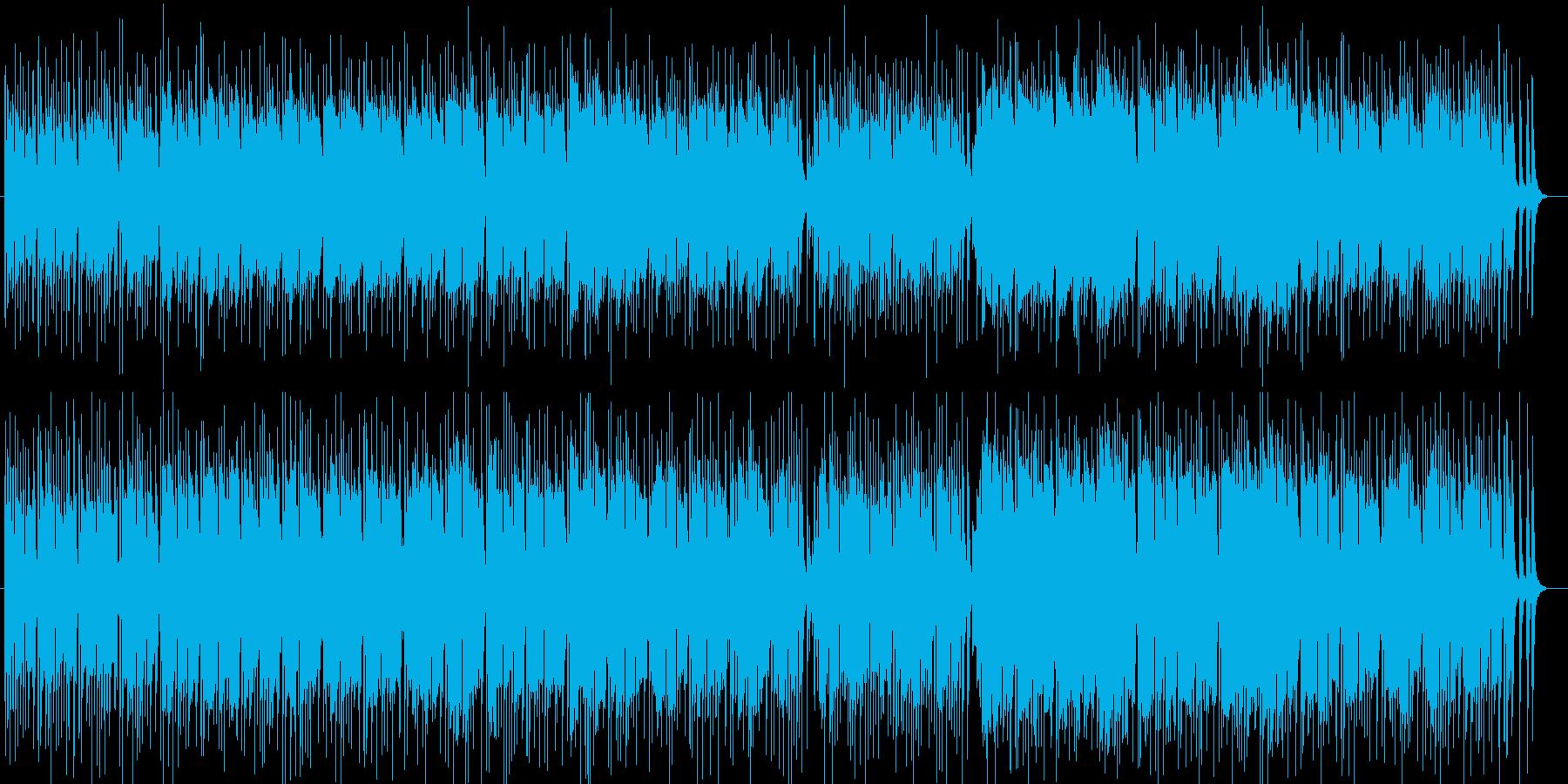 海辺の風景シンセサイザー系曲の再生済みの波形