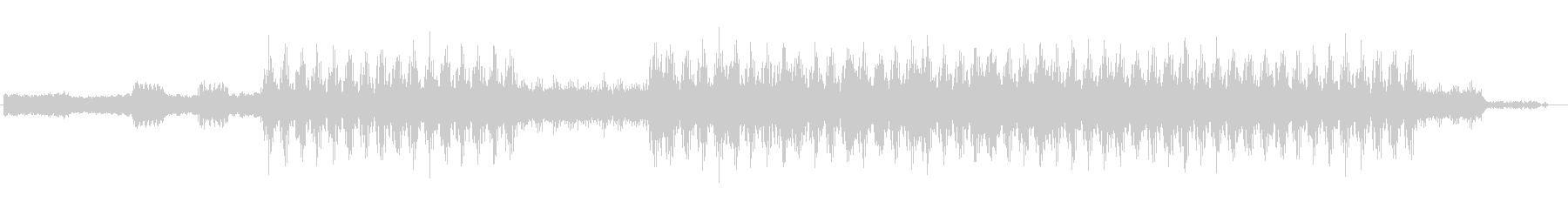 近未来のような電子音サウンドの未再生の波形