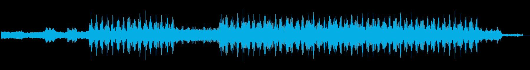 近未来のような電子音サウンドの再生済みの波形