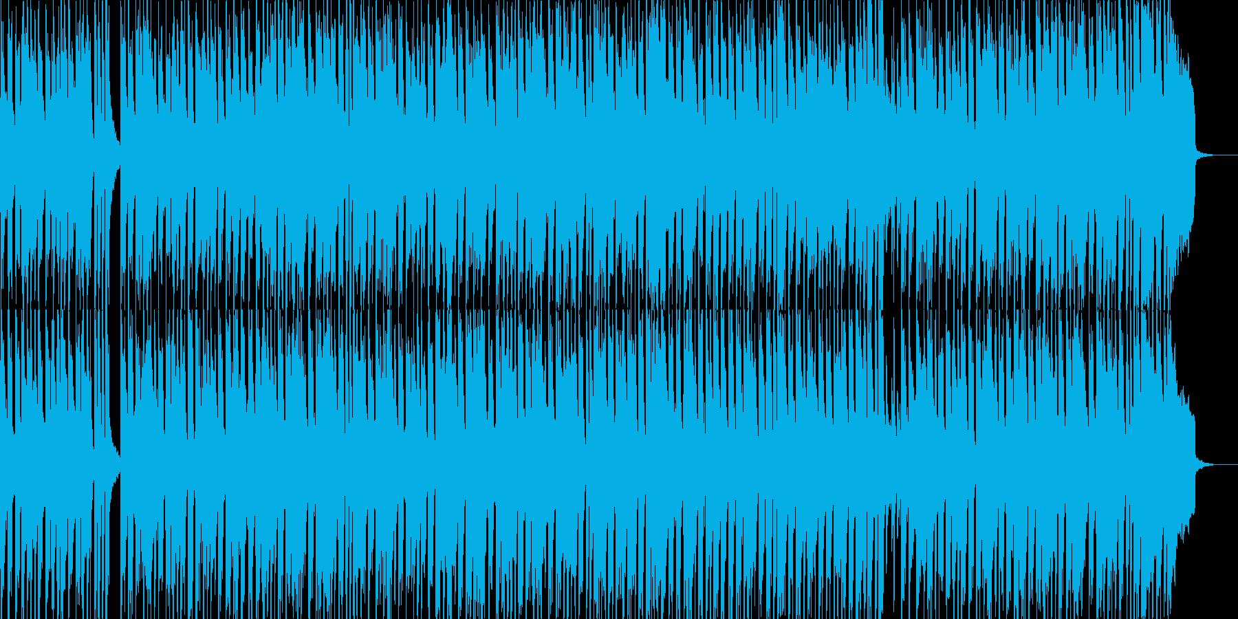 子供向けのわんぱくで元気なBGMの再生済みの波形