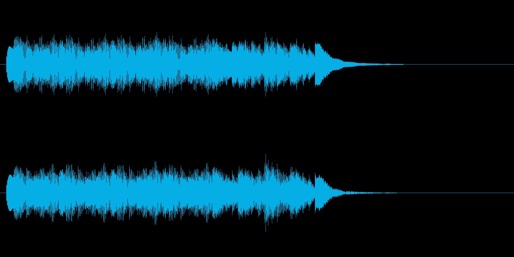 コミカル 間の抜けた(ジングル、転換音)の再生済みの波形