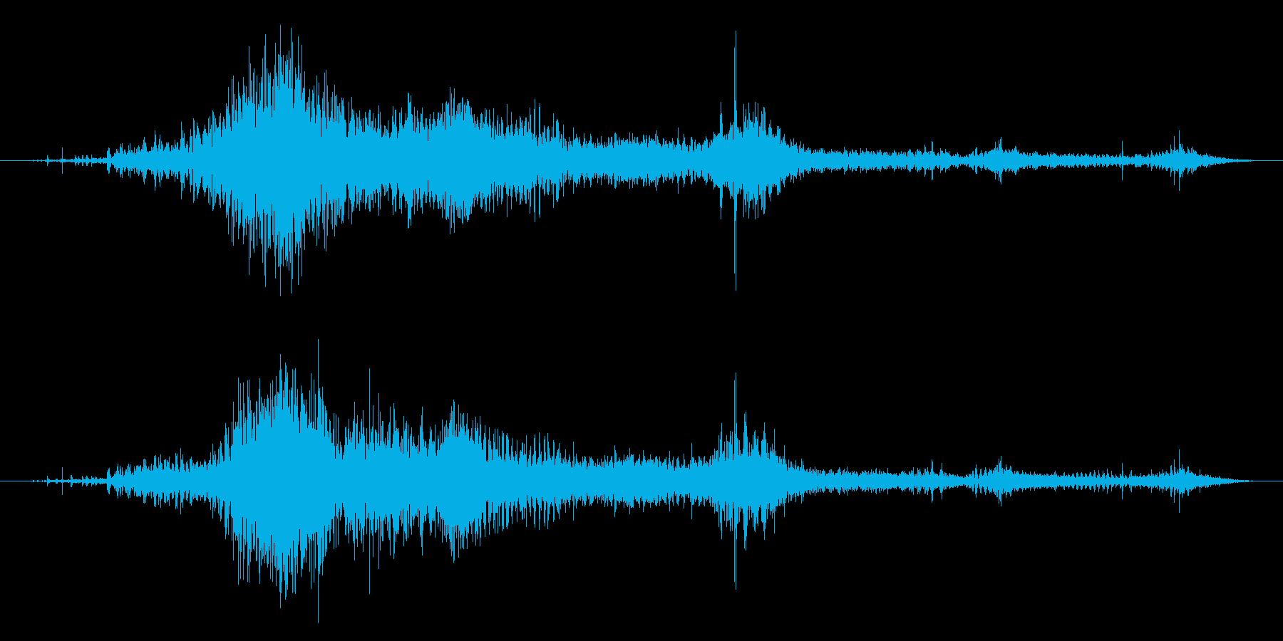 ゾンビやモンスターの叫び声/唸り声24cの再生済みの波形