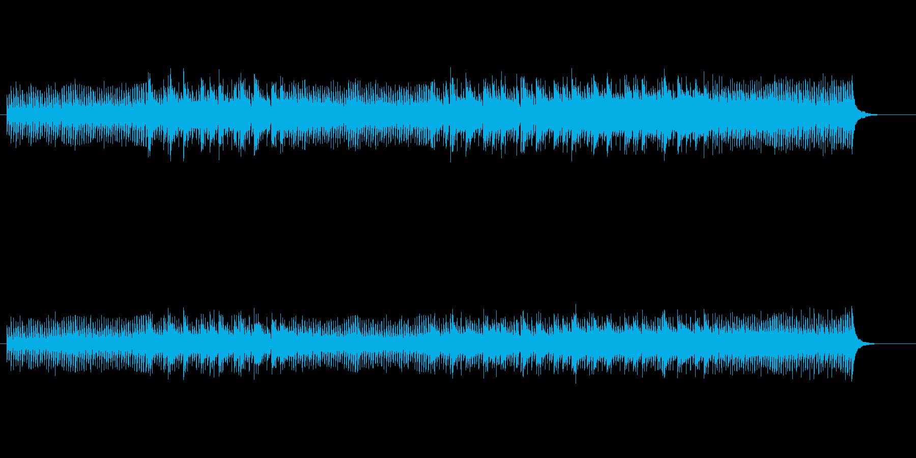 軽快で広がりのあるサウンドの再生済みの波形