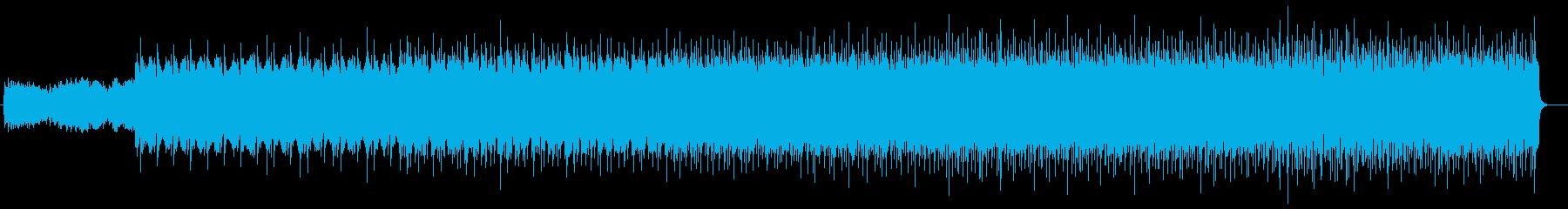 シリアス感のあるシンセサイザーサウンドの再生済みの波形