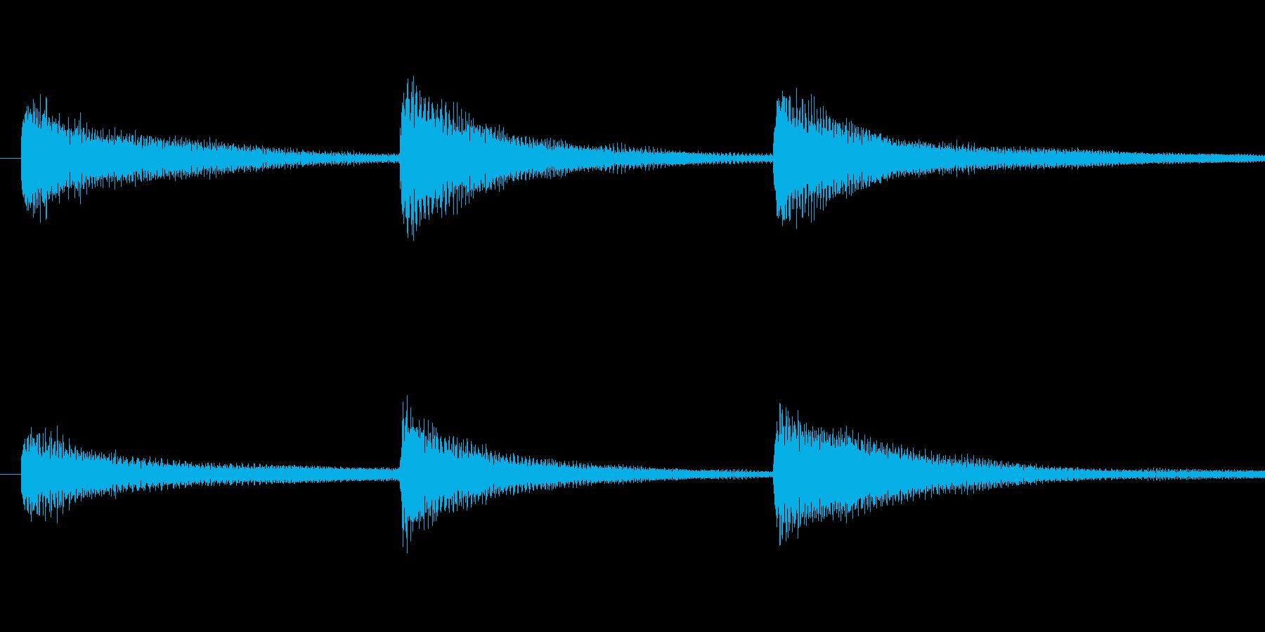 合唱の前などに行う礼のピアノの再生済みの波形