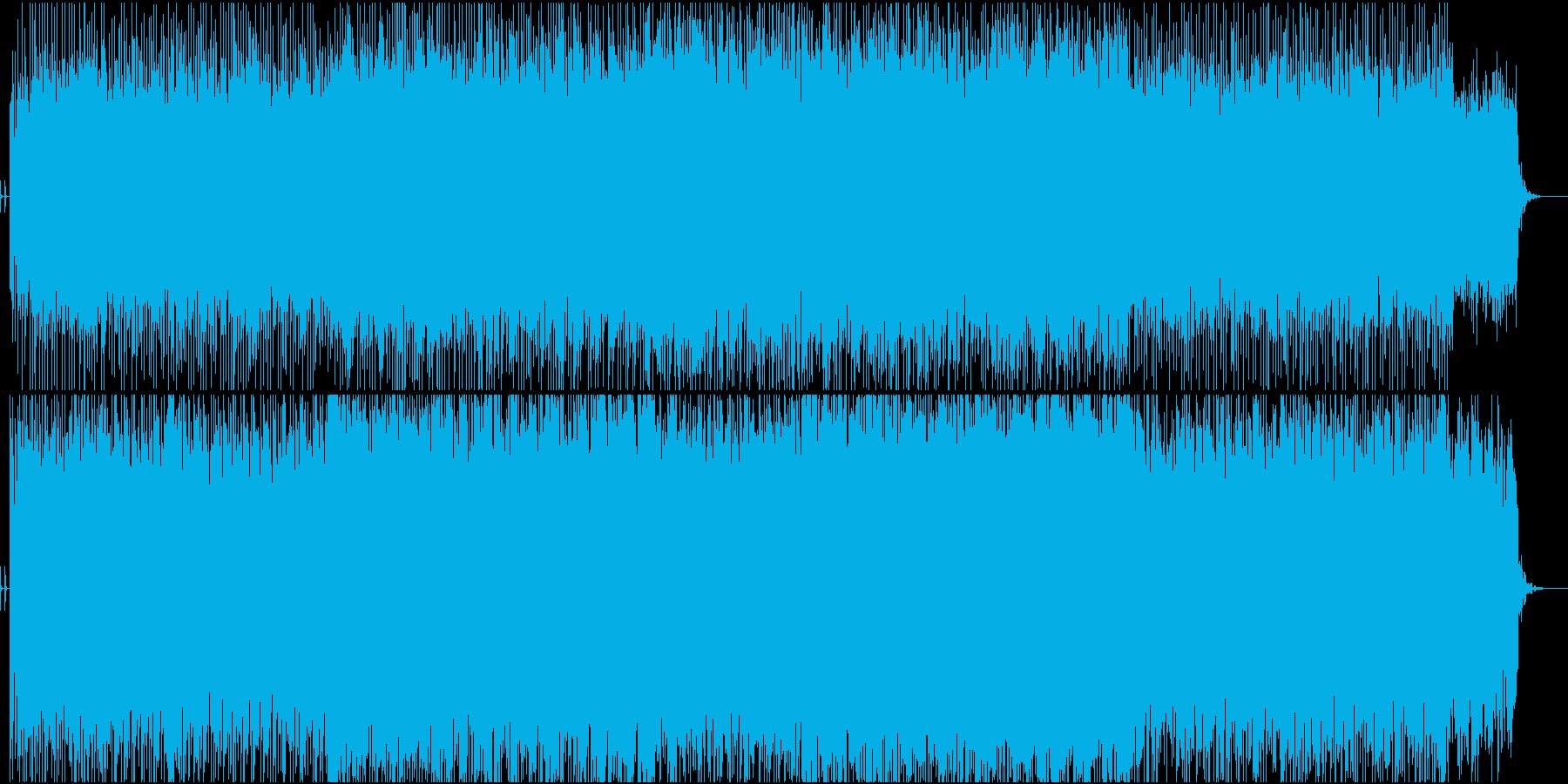 緊迫感のあるデジロックの再生済みの波形