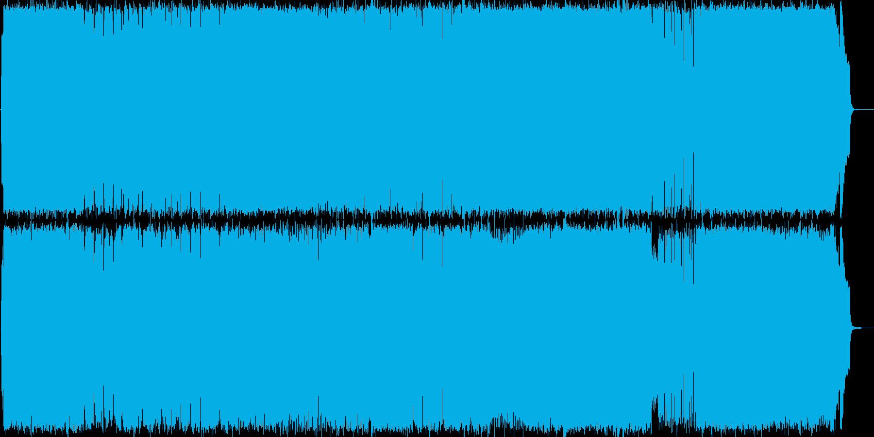 ピアノ・ストリングの和風な曲の再生済みの波形