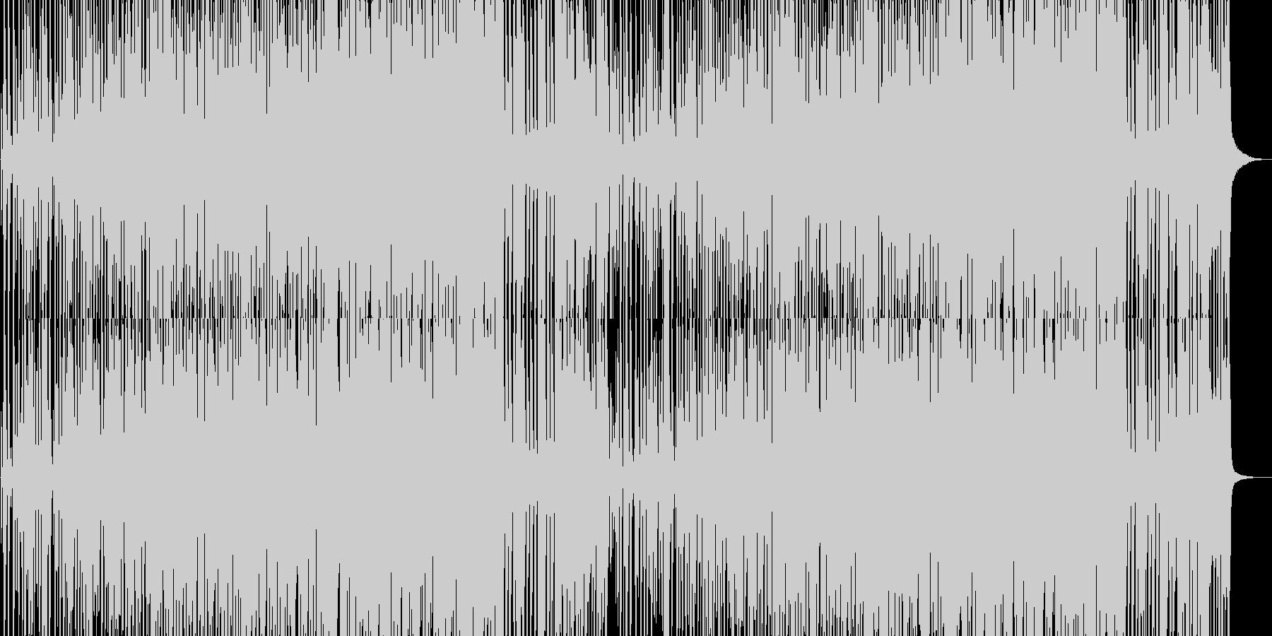 クールで軽快な、躍動感のあるジャズ風曲の未再生の波形