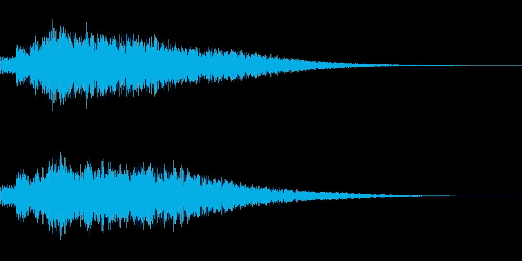 サウンドロゴ、ジングル(エレキギター)の再生済みの波形