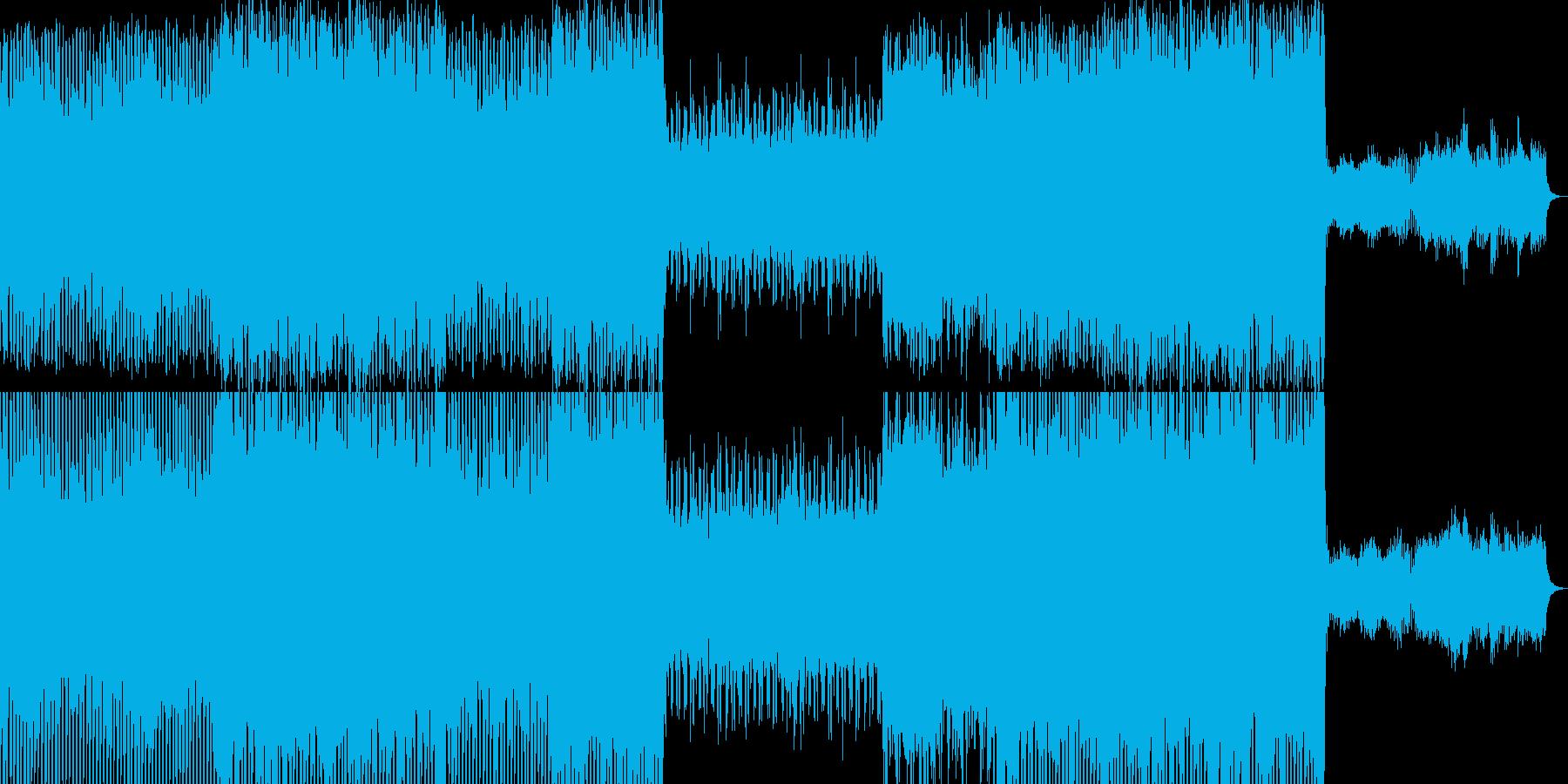 シンセサイザーとドラムでかっこいい感じの再生済みの波形