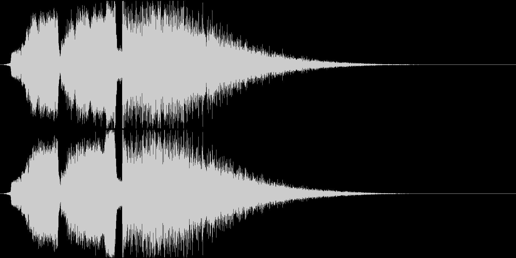 シュインシュインドワーン 衝撃音の未再生の波形
