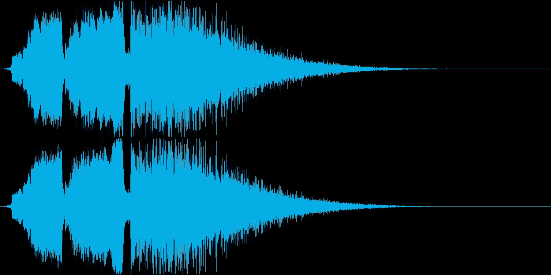 シュインシュインドワーン 衝撃音の再生済みの波形