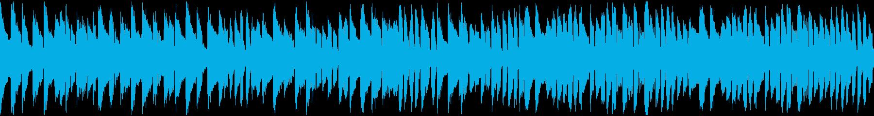 ハープシコードのBGM(ループ)の再生済みの波形