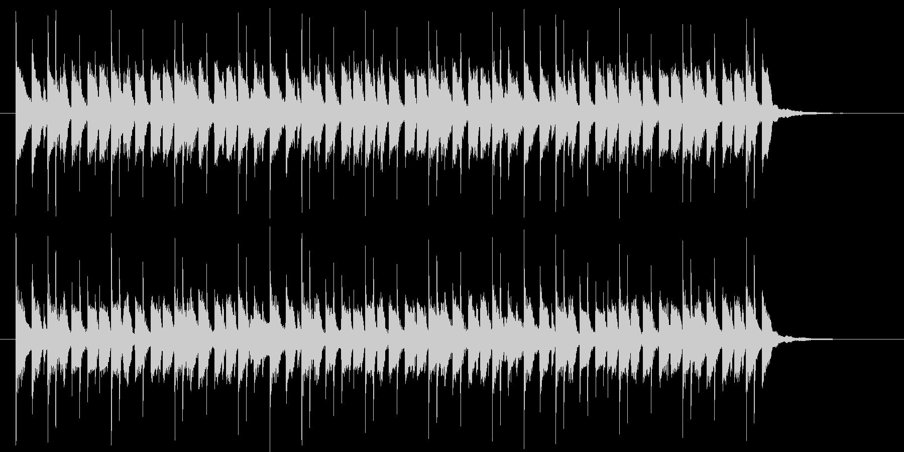 映像音楽等に。ワクワクするピアノポップの未再生の波形